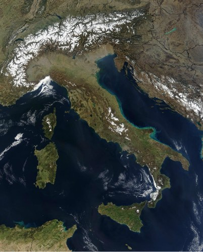 Italy facts: Italy from Space