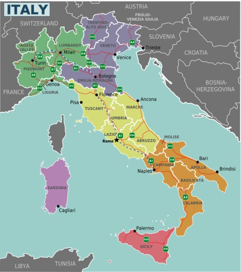Italy Regions Map And Information