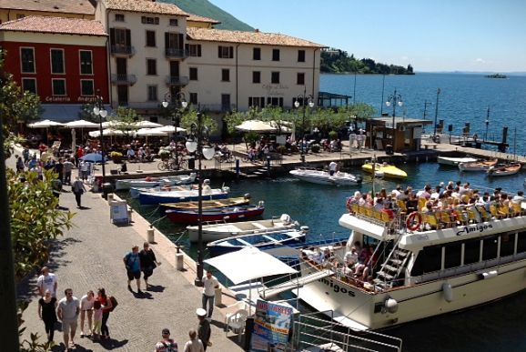 Malcesine Italy: the harbour